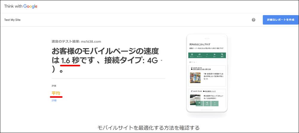 モバイルサイトの速度