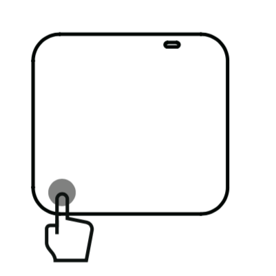 Insta360 ONE R基本操作左下タッチ